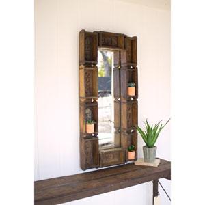 Large Repurposed Rectangle Brick Mold Mirror
