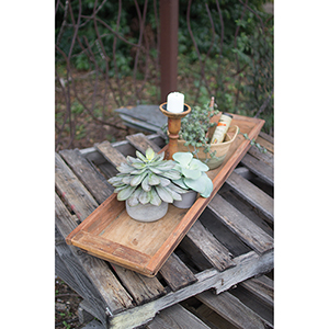 Reclaimed Wooden Rectangle Tray