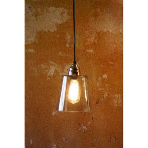 Electric Mini Pendant Lamp w/ Seven-Inch Diameter Glass Shade