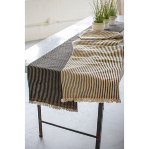Cotton and Jute Table Runners, Set of Two