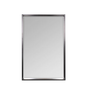 Soraya Matte Black 36-Inch Rectangle Shelf Mirror