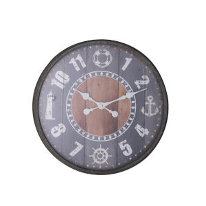 Gulf Coast Antique Gray 26-Inch Wall Clock