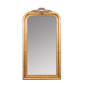 Camilla Antique Gold 58-Inch Arched Floor Mirror