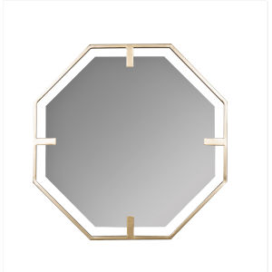 Kelani Gold 32-Inch Hexagon Wall Mirror