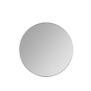 Franco Matte Black 34-Inch Round Wall Mirror
