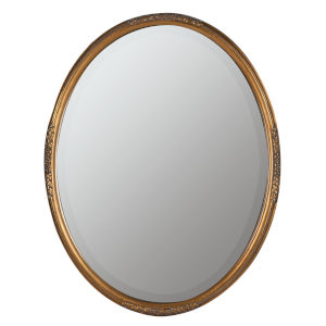 Piper Antique Gold 28-Inch Oval Wall Mirror
