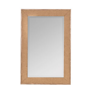 Calico Natural Wood 36-Inch Woven Wall Mirror