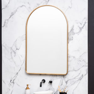 Sebastian Gold 38-Inch Arched Wall Mirror
