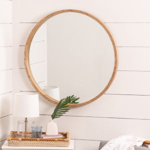 Parson Light Wood 36-Inch Wall Mirror