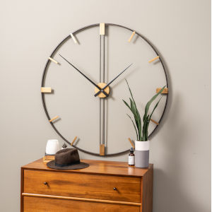 Camden Distressed Black 41-Inch Wall Clock