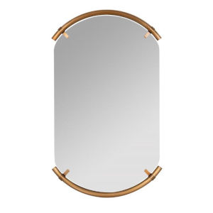 Phoebe Brass 36-Inch Arched Wall Mirror