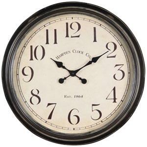 Whitley Aged Black Clock