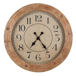 Fairbanks Distressed Wood Clock