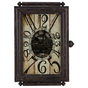 Charest Aged Black Clock
