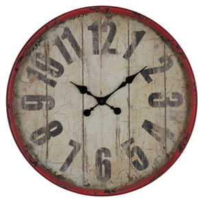 Oleshia Aged Red Finish with Black Undertones Clock
