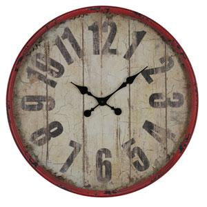 Oleshia Aged Red Finish with Black Undertones Clock
