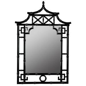 Pagoda Glossy Black Mirror