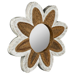 Maiden Whitewashed and Natural Brown Mirror