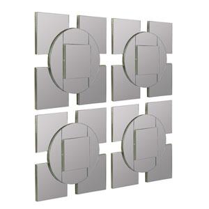 Tupan Layered Frameless Mirror, Set of Four
