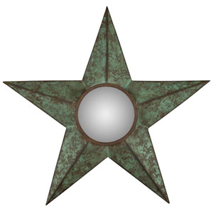 Diata Verdigris Mirror with Bronze Highlights