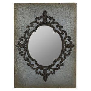 Lorne Aged Tin Mirror