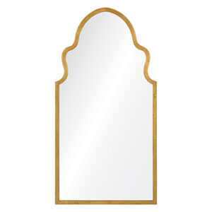 Lincoln Textured Gold Mirror