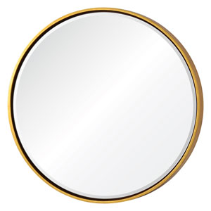 Wren Gold Round Mirror