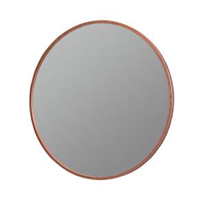 Daria Rose Gold Round Mirror