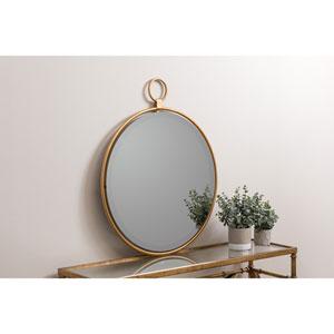 Jenna Gold Round Mirror