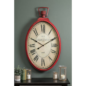 Tildyn Red Wall Clock
