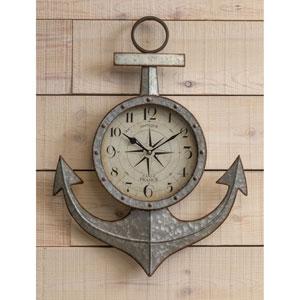 Maritime Silver Wall Clock