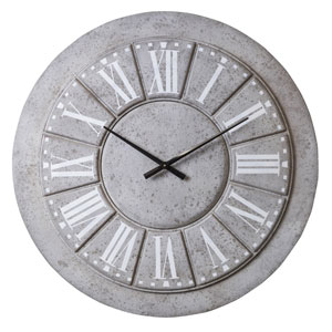 Lily Gray Wall Clock