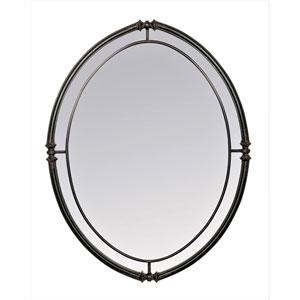 Cullen Black Oval Mirror