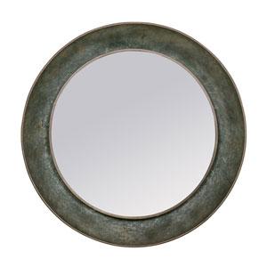 Capeze Gray Round Mirror