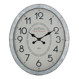 Hudson Galvanized Metal Wall Clock