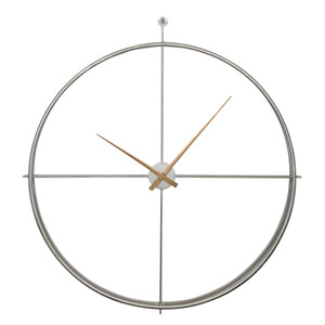 Eden Silver Oversized Clock