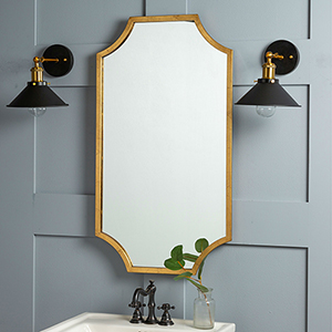 Lina Gold Leaf Mirror