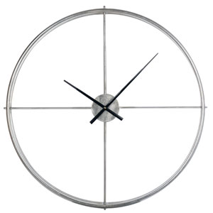 Stephenson Silver Oversized Wall Clock