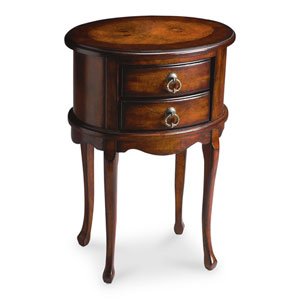 Plantation Cherry Oval Side Table