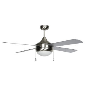 Centurion Stainless Steel 52-Inch Two-Light LED Ceiling Fan