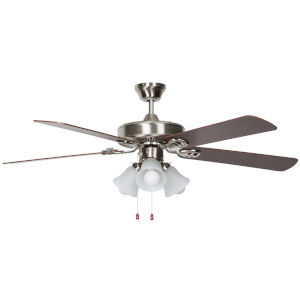 Heritage Home Chrome 52-Inch Three-Light LED Ceiling Fan