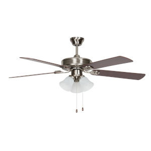Heritage Home Stainless Steel 52-Inch Three-Light LED Ceiling Fan