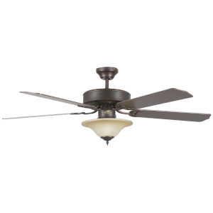 Heritage Square Oil Rubbed Bronze 52-Inch Three-Light LED Ceiling Fan