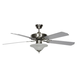 Heritage Square Chrome 52-Inch Three-Light LED Ceiling Fan