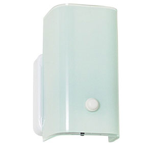 Builders Bath One-Light White Opal Glass Bathroom Wall Sconce with Turn Knob
