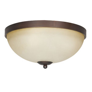 Provano Three-Light Tique Bronze Flush Mount with Buttercup Glass