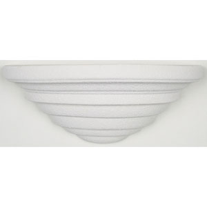 One-Light Textured White Tiered Wall Sconce