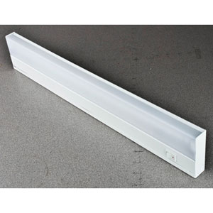 21-Inch One-Light White Fluorescent Undercabinet Fixture with White ABS Diffuser
