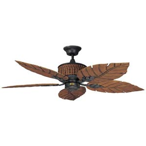 Fernleaf Breeze Rustic Iron 52-Inch Damp Location Energy Star Ceiling Fan