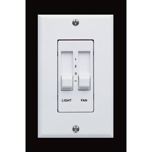 White Three-Speed/Three-Level Slide Bar Fan Wall Control